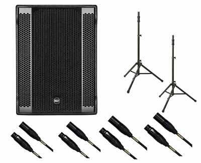 RCF SUB 8003-AS II Subwoofer Active Sub + Mogami Cables + Tripod Stands • 1,616.92£
