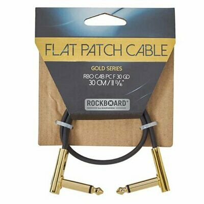 RockBoard Flat Patch Cable 30cm Ang-ang, Gold Series, RBO CAB PC F 30 GD • 7.80£