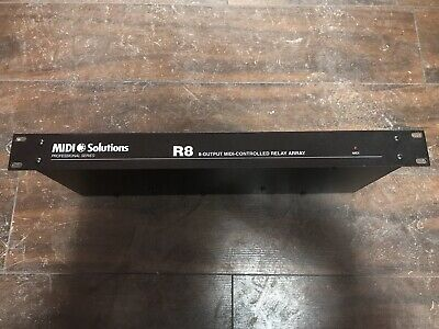 MIDI Solutions R8 8 Output MIDI Controlled Relay Array • 104.47£