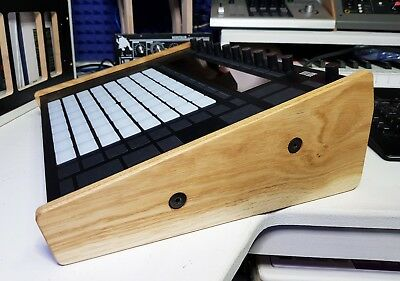 Solid Oak End Cheeks / Stand For Ableton Push 2 Synths And Wood • 49.99£