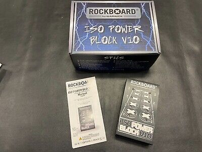 Rockboard Iso Power Block V10 Pedal Board Power Supply New! • 122.97£
