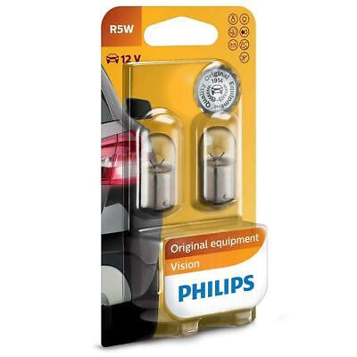 2x Philips 12821B2 Car Indicators-Interior Bulbs R5W Vision 5W 12V BA15s • 7.57£