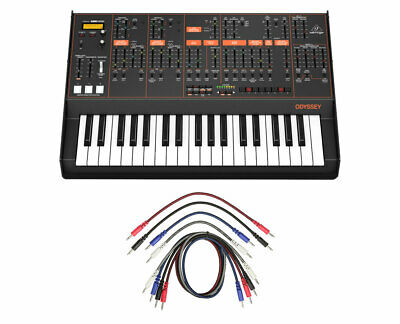 Behringer Odyssey Analog Synthesizer Synth + 8 Pack 3.5mm Mono Patch Cables • 479.65£