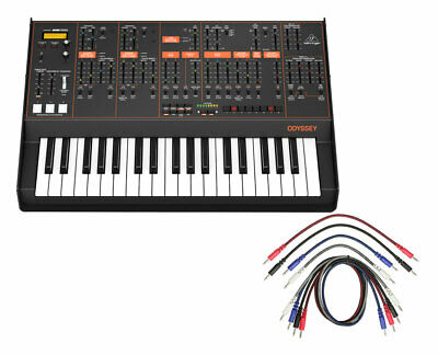 Behringer Odyssey Pure Analog Synthesizer Synth + 8 Pack Of Patch Cables • 479.65£