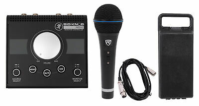 Mackie Big Knob Passive 2x2 Studio Monitor Controller+Microphone+Case+Cable • 62.93£