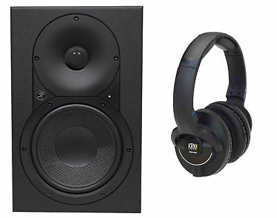 Mackie XR624 6.5  Powered Active Pro Studio Monitor Speaker + KRK Headphones • 313.18£
