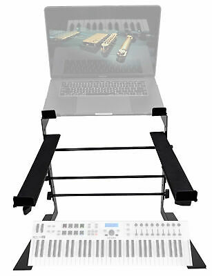 Rockville Dual Laptop+Controller Stand For Arturia Keylab Essential 61 Keyboard • 36.78£