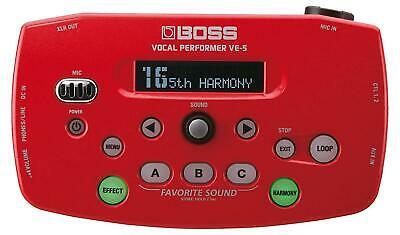 BOSS Vocal Performer Red VE-5-RD New In Box • 198.66£