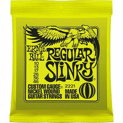 Ernie Ball 2221 Regular Slinky 10-46 Electric Guitar Strings • 8.99£