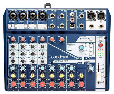 Soundcraft Notepad-12FX 12-Ch Soundboard Mixing Console Mixer For Church/School • 111.65£