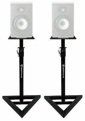 2 Rockville Adjustable Studio Monitor Speaker Stands For Focal Shape 40 Monitors • 42.63£