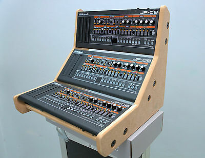 Triple Roland Boutique Stand Holds 3 Synths Sh01a Se02 Jp08 Ju06 A01 Tr09 Tr08  • 42£