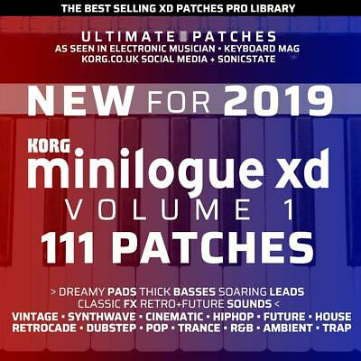 111 KORG MINILOGUE XD ULTIMATE PATCHES • #1 Seller • Easy USB Install • LISTEN • 16.99£