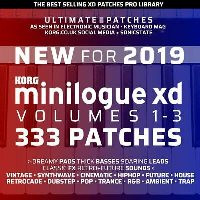 333 KORG MINILOGUE XD ULTIMATE PATCHES • #1 Seller • Easy USB Install • LISTEN • 29.99£