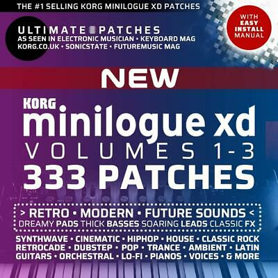 333 *NEW* KORG MINILOGUE XD PRESETS / PATCHES • #1 Seller, Easy Install • LISTEN