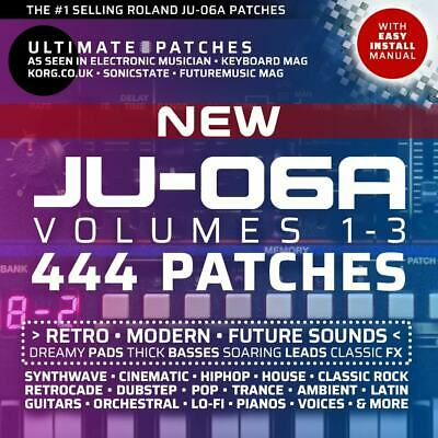 444 ROLAND JU-06A ULTIMATE PATCHES • #1 Bestseller • Easy USB Install • LISTEN • 29.99£