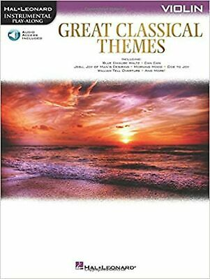 Great Classical Themes Violin (Hal Leonard Instrumental Play-along) • 23.99£
