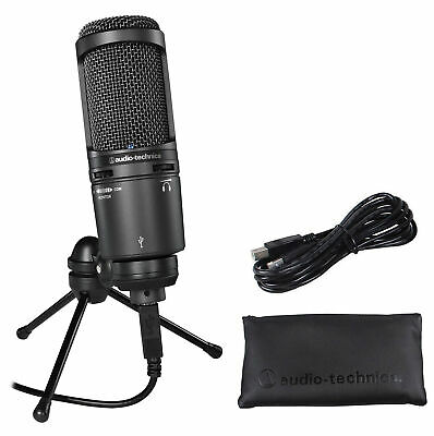 Audio Technica AT2020USB+ Video Conference Live Streaming Microphone Zoom Mic • 108.03£