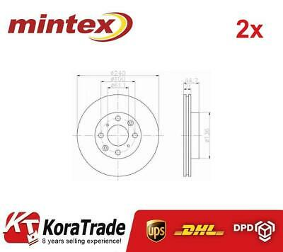 2x MINTEX MDC847 FRONT OE QUALITY BRAKE DISC SET • 67£
