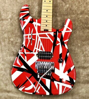 EVH Striped Series Red With Black Stripes Ship From Japan 0510 • 1,392.68£