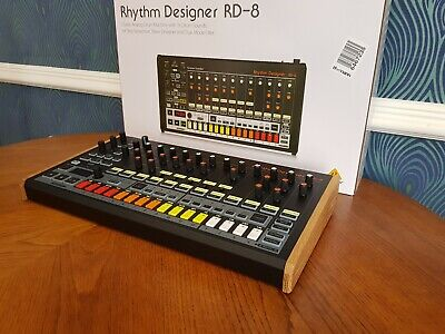 Behringer Rd8 Solid Oak Replacement End Cheeks Drum Machine • 46£