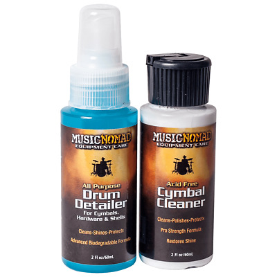 Music Nomad - Cymbal Cleaner And Drum Detailer Combo Pack (2 Oz.) MN117 • 6.89£