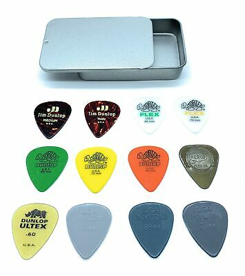 Dunlop PVP112 Acoustic Guitar Picks Variety Pack In A Handy Slide-Top Pick Tin • 22.99£
