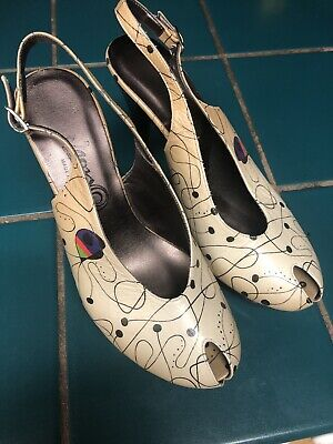 Icon Womens Hand Painted By Niró. Platform Leather Heels Sz8 (38) • 22.24£