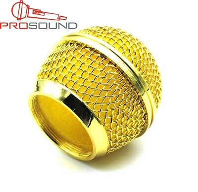 PROSOUND Top Quality Gold Plated Microphone Grille For Sm58 Beta 58A Microphone • 7.59£
