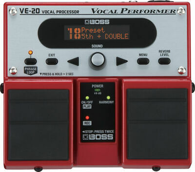 Boss VE-20 Vocal Performer Twin Effects Pedal VE20 • 226£