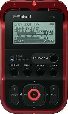 ROLAND R-07 High-Resolution Portable Audio Recorder, Red • 292.99£