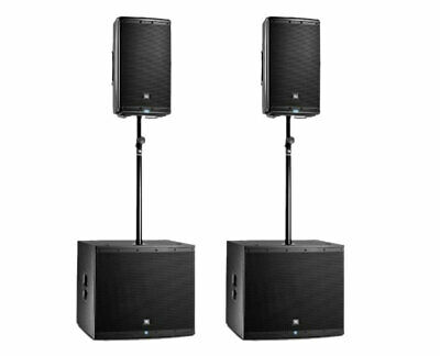 2x JBL EON612 Powered Speaker Active Monitor + 2x EON618S Subwoofer + Sub Poles • 1,901.90£
