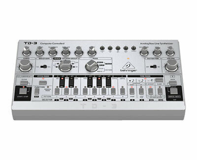 Behringer TD-3-SR Analog Bass Line Synthesizer/Synth W/ 16-Voice Poly Chain • 100.25£