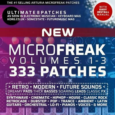 333 *NEW* ARTURIA MICROFREAK PRESETS / PATCHES • #1 Seller–Easy Install • LISTEN