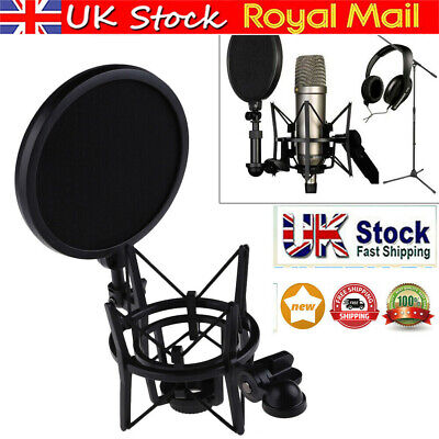 Microphone Suspension Mic Professional Shock Mount W/ Filter For Rode K2 NT1-A • 9.95£