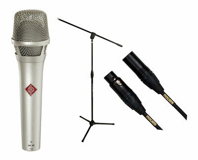 Neumann KMS105 - Nickel Microphone + Ultimate MC-40B Pro + Mogami Gold XLR Cable • 537.86£