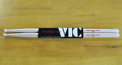 Vic Firth 5B Drum Sticks - Wood Tips - American Classic Hickory UK Seller • 10.49£