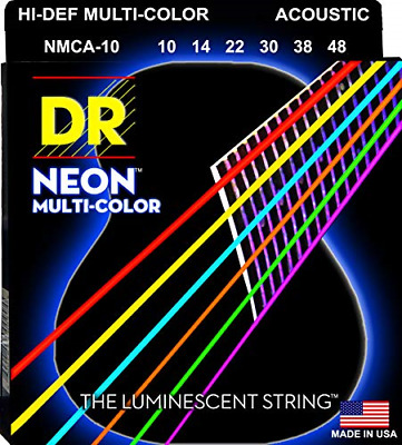 DR Strings Hi-Def Neon Multi-Color Acoustic - Lite • 16.91£