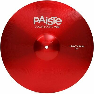 Paiste Color Sound 900 Red 16  Heavy Crash Cymbal/New/Model # CY0001922816 • 103.31£