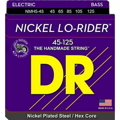 DR NMH5-45 'Lo-Rider' Nickel 4-String Bass strings 45-125