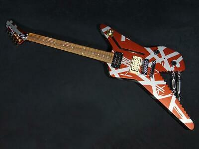 EVH Striped Series Shark Burgundy With Silver Stripes Ship From Japan 0917 • 2,030.75£