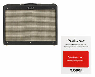 Fender Hot Rod Deluxe IV - Black + Fender Play 12 Month Card • 574.31£
