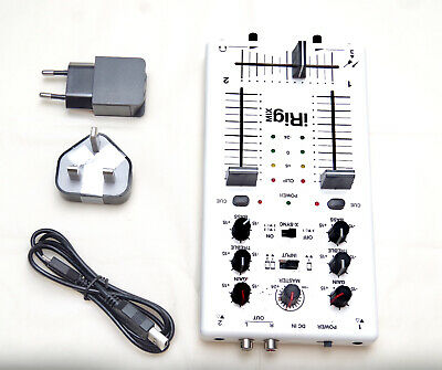IRig MIX IK Multimedia Mobile Mixer For IPhone IPad Android Devices + 5V Adapter • 39.99£