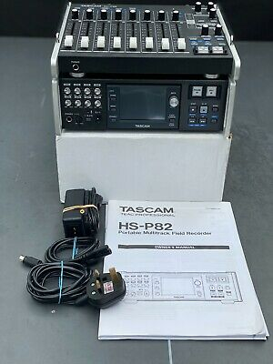 TASCAM HS-P82 Multitrack Recorder With RC-F82 Fader Pack • 1,580£
