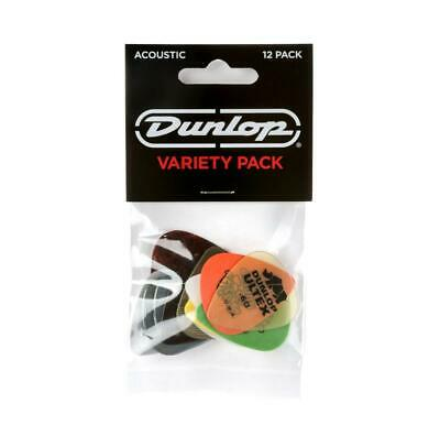 Jim Dunlop Variety Pick Pack Acoustic Guitar 12 Mix PVP112 • 5.99£