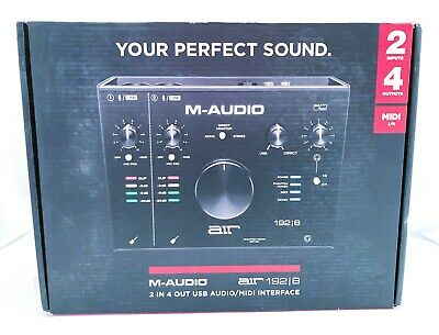 M-Audio AIR 192  8 2-In4-Out 24192 Audio Recording MIDI Interface • 102.02£