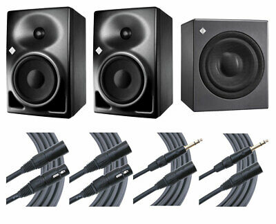 2x Neumann KH120A KH 120A Active Speakers + KH750 KH 750 Sub + Mogami Cables • 2,244.31£