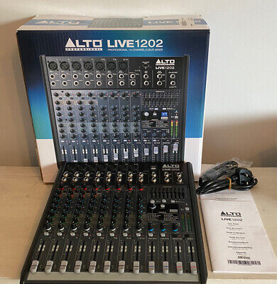 ALTO PROFESSIONAL LIVE 1202 - 12-Channel / 2-Bus Mixer With Alesis DSP BOXED • 174.99£