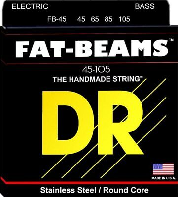 DR FB-45 'Fat-Beams' Stainless Steel 4-String Bass strings 45-105