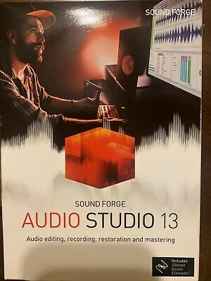 NEW Sound Forge Audio Studio 13 Disc Included MAGIX / SONY Magix Podcast Editing • 12.38£